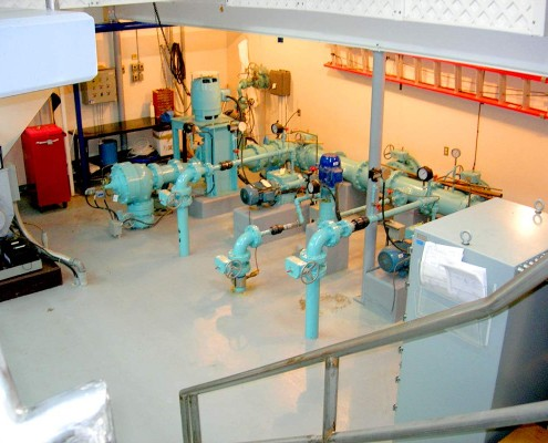 Municipal water treatment station